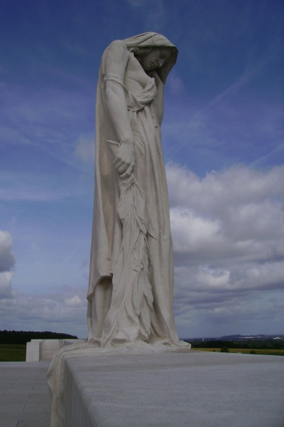 Mourning Mother– Vimy Memorial - August 2012 … Photo courtesy of Marg Liessens