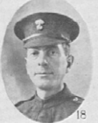 Photo of Angus John McLelland– In memory of the men who served with the 87th Battalion CEF. Submitted for the project, Operation: Picture Me