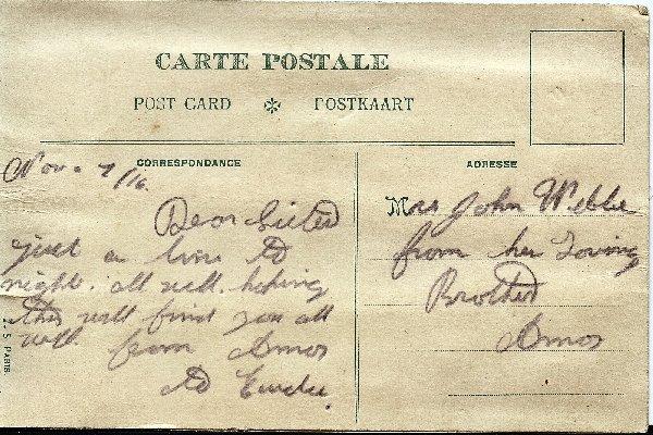 Carte Postale (dos)