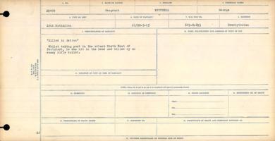 Circumstances of death registers– Sergeant George Mitchell
