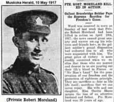 Newspaper clipping– Muskoka Herald 10-May-1917 1 of 3