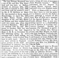 Newspaper clipping– Muskoka Herald 10-May-1917 2 of 3