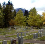 Cemetery– View of Banff Cemetery, Banff, Alberta.  September 2010.
