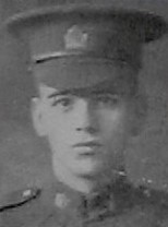 Photo of George Abener Mount– Pte George Abener Mount from the December 1918 edition of The Christmas Echo published in London Ontario - And in the Morning