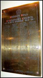 Memorial– St Andrews Church, WW1 memorial, Kingston, Ontario