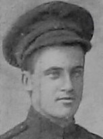 Photo of Robert Mowat– Pte Robert Mowat as shown in the December 1918 edition of The Christmas Echo published in London Ontario