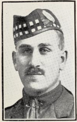 Photo of ARTHUR EDWARD MUIR– Photo from the National Memorial Album of Canadian Heroes c.1919. In memory of the members of the 15th, 92nd and 134th Battalions (48th Highlanders) who went to war and did not return. Submitted for the project, Operation: Picture Me.