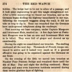 """The Red Watch– Lt. Arthur Edward Muir is mentioned in Col. J. A. Currie's 1916 account of the 48th Highlanders in Belgium (15th Battalion CEF).   """"The Red Watch - With the First Canadian Division in Flanders"""" was published in Toronto and dedicated to the memory of the Canadian soldiers who fell in Flanders.   Currie describes the experiences of the 48th from training in Canada to further training at Salisbury Plain in England and their participation in the 2nd battle of Ypres in mid 1915."""