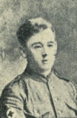 Photo of John Myers– Photograph of John Henry Myers, native of Bury, England, from the 'Bury and District Memorial Book 1916'.