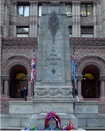 Monuement– The memorial tablet for the City of Toronto employees is located through the doors of Old City Hall, Queen Street. Pte. Ernest William Nesbitt's name is included on this memorial.