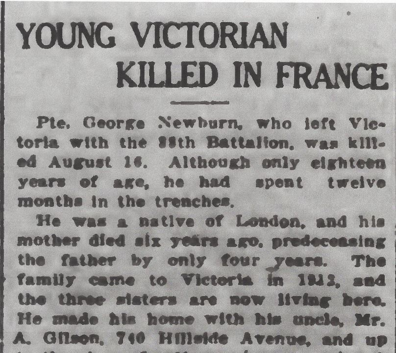 Newspaper clipping– From the Daily Colonist of September 18, 1917. Image taken from web address of http://archive.org/stream/dailycolonist59y242uvic#page/n0/mode/1up