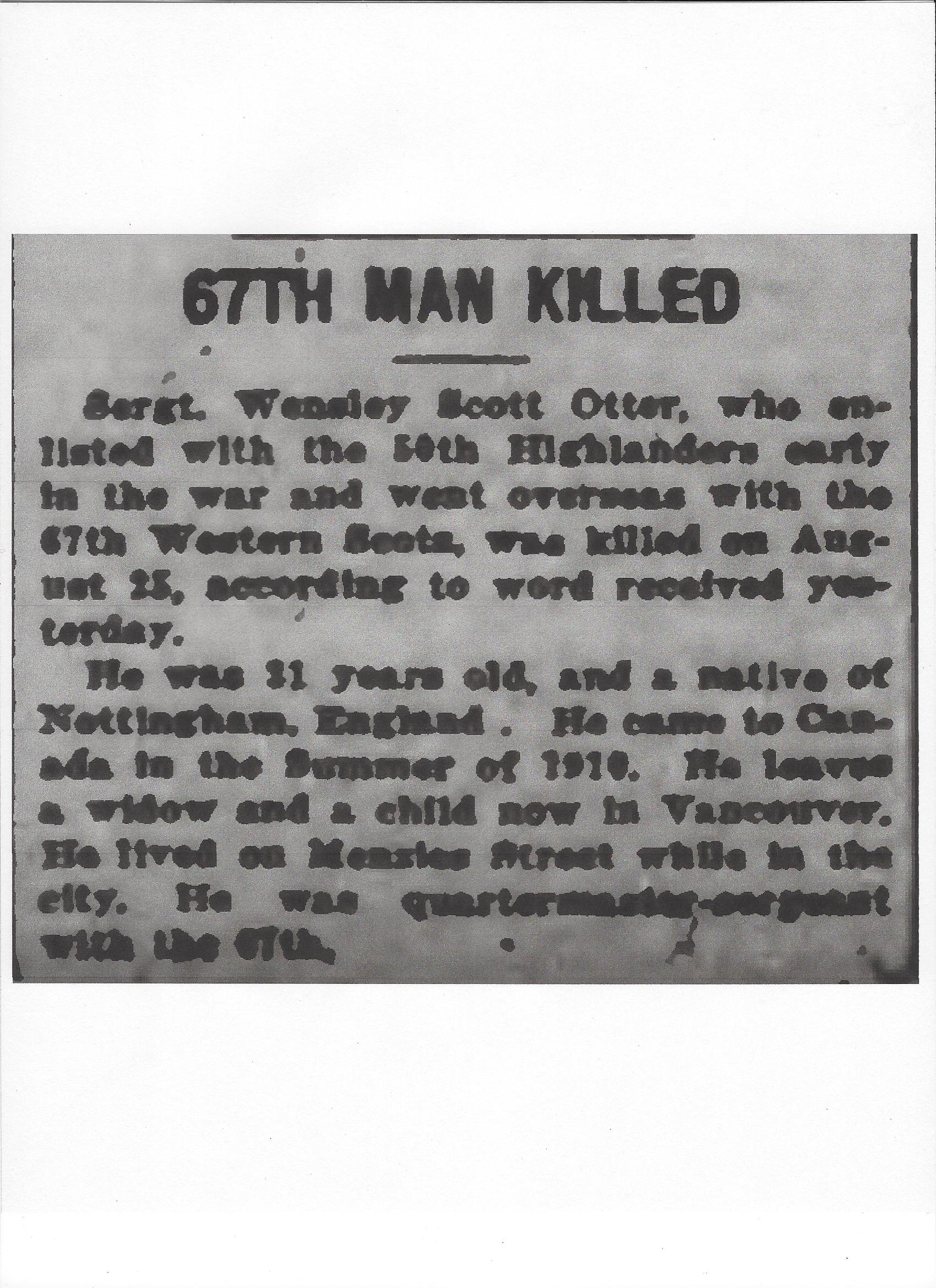 Newspaper clipping– From the Daily Colonist of September 14, 1917. Image taken from web address of http://archive.org/stream/dailycolonist59y239uvic#page/n0/mode/1up