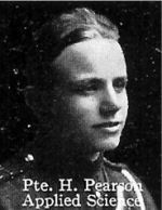 Photo of Horace Pearson– From: The Varsity Magazine Supplement published by The Students Administrative Council, University of Toronto 1916.   Submitted for the Soldiers' Tower Committee, University of Toronto, by Operation Picture Me.