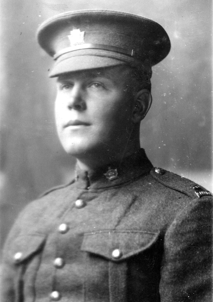 Photo of Gilbert Andrew Peterson– Gilbert Andrew Peterson born 1895 Maple Creek SK, served overseas with his brother Carl, forever mourned by his parents and five siblings.