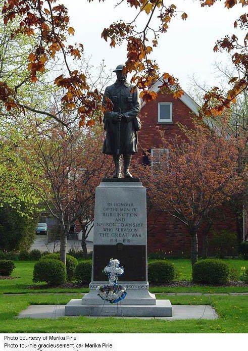 Mémorial de Burlington, Ontario (1922)