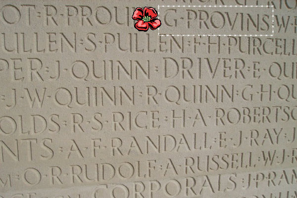 Inscription– Vimy Memorial … photo courtesy of Marg Liessens