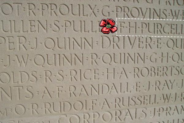 Inscription– Vimy Memorial … photo courtesy of Marg Liessens