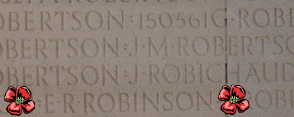 Inscription– Inscription - Vimy Memorial - August 2012 … Photo courtesy of Marg Liessens