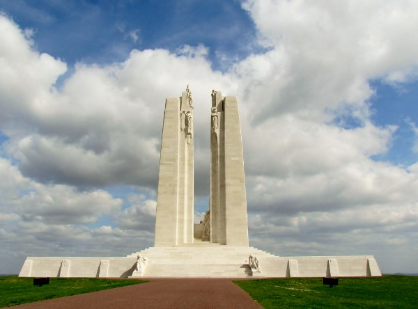 Vimy Memorial– Approaching from the back. Vimy Memorial, France.  Photo by Ken Riley