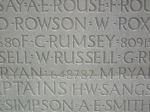 Inscription– Inscription on the Vimy Memorial, France Photo courtesy of J. Elliott/J. Rutledge, The Men of Huron WW1 Project