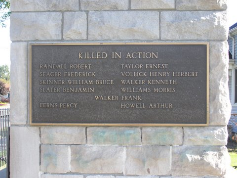 Plaque– Plaque on monument in Port Edward, Ontario. Source: Bev Walking