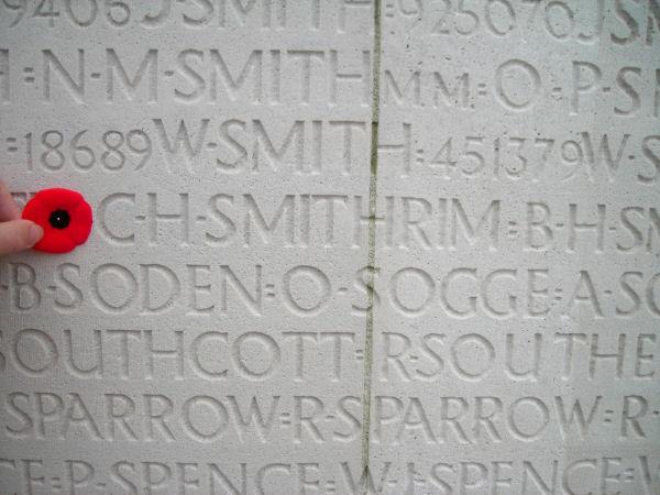 Inscription on the Vimy Memorial