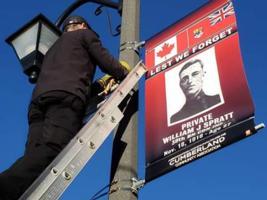 Memorial– William Spratt banner, Cumberland, Nov 2018