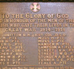 World War I Memorial– Christ (Anglican) Church, Gananoque, ON