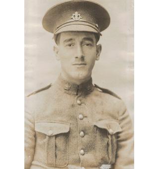 "Photo of Carl Sweetman– Corporal Carl Sweetman, CEF 416104, ""D"" Coy. 13th Bn."