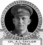 Photo of Alfred Taylor– From: The Varsity Magazine Supplement Fourth Edition 1918