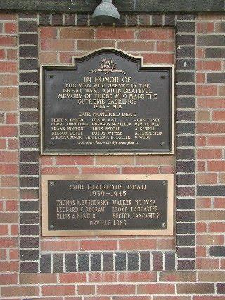 Memorial– Memorial, Rodney Ontario