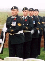 Rifle Salute– A Memorial service for Sergeant G. R. Thompson was held on November 9, 1998, at his final resting place in the Crest Cemetery
