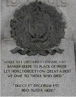 Inscriptions– Detail of names listed on the Saltfleet Township War Memorial.