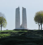 Vimy Memorial– Vimy Memorial from a distance. Photo by Ken Riley.