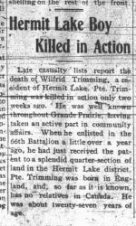 Newspaper clipping– GRAND PRAIRIE HERALD DECEMBER 19 1916