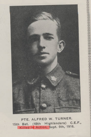 Photo of ALFRED WILLIAM TURNER– Submitted for the project, Operation Picture Me