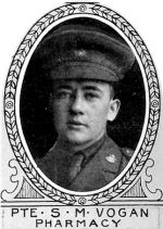 Photo of Stanley Vogan– From: The Varsity Magazine Supplement Fourth Edition 1918