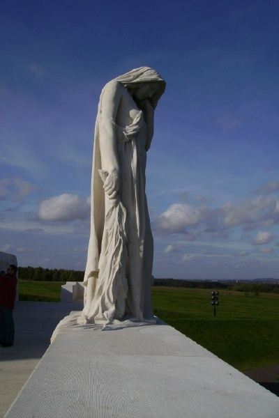 Mourning Mother– Vimy Memorial … photo courtesy of Marg Liessens