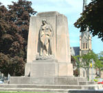 Galt War Memorial– The Cambridge (Galt) War Memorial, Queen's Square, Cambridge, Ontario.  Circa 1930. Frances Loring and William Lyon Somerville.