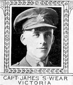 Photo of James Wear– From: The Varsity Magazine Supplement Fourth Edition 1918