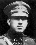 Photo of George Weber– From: The Varsity Magazine Supplement published by The Students Administrative Council, University of Toronto 1916.   Submitted for the Soldiers' Tower Committee, University of Toronto, by Operation Picture Me.