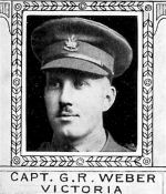 Photo of George Weber– From: The Varsity Magazine Supplement Fourth Edition 1918 published by The Students Administrative Council, University of Toronto.   Submitted for the Soldiers' Tower Committee, University of Toronto, by Operation Picture Me.