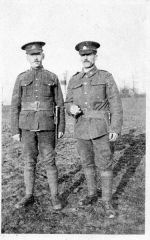 Photo of William Whittlesea– William (on left) with army comrade