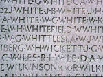 Inscription– William Whittlesea's name carved on the Vimy Memorial (photo taken July 1994)