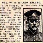 News Paper Clipping– He signed his name on his attestation as William Henry Wilcox.