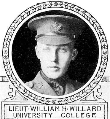 Photo of William Willard– From: The Varsity Magazine Supplement Fourth Edition 1918