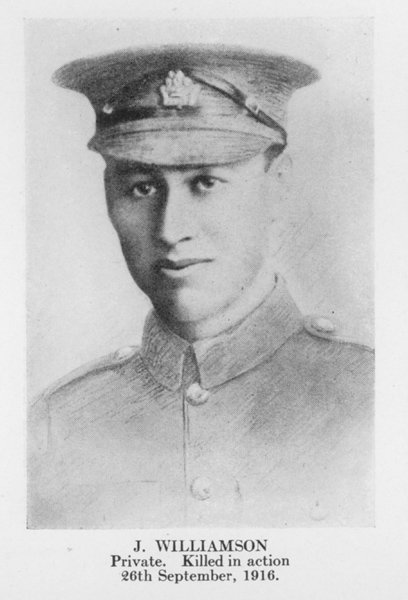 """Photo of JAMES WILLIAMSON– From the book """"Letters From The Front 1914-1919"""" published by The Canadian Bank of Commerce."""