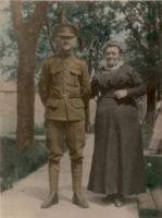 Photo of Harold Willoughby– Harold and his Mother just before sailing to England.