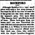 Newspaper Clipping– From the Waterford Star for 10 May 1917.