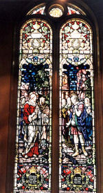 """Memorial– A stained glass memorial at St. Paul's United Church 303 Jackson Street Walkerton, ON is dedicated to members of St. Paul's United Church who died in the First World War. It was erected by the congregation of St. Paul's United Church.  """"I HAVE NOT FOUND SO GREAT FAITH, NO, NOT IN ISRAEL.""""  CHESTER A. CUNNINGHAM; STEPHEN HICKLING; D. GORDON HOGG; COURTNEY KNEPFLAR; FRANK MOORE; NEIL A. McNEILL; EVERETT TRUAX; ALVIN WILTON; WILLIAM WOLFE. ERECTED BY ST. PAUL'S UNITED CHURCH CONGREGATION, WALKERTON, ONTARIO. TO THE GLORY OF GOD, AND IN LOVING MEMORY OF THOSE WHO GAVE THEIR LIVES IN THE GREAT WAR IN DEFENCE OF RIGHTEOUSNESS, JUSTICE AND LIBERTY 1914-1918.  http://www.cmp-cpm.forces.gc.ca/dhh-dhp/nic-inm/sm-rm/mdsr-rdr-eng.asp?PID=5885  Photo Credit: Clarence F. Kieffer"""